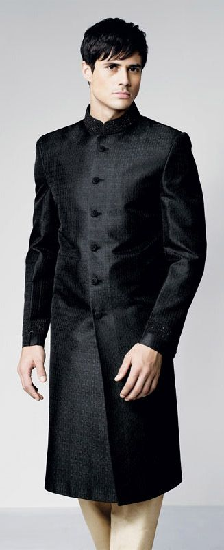Indian Black Sherwani