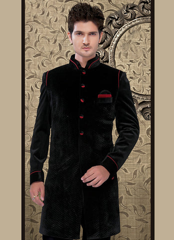 Fancy Wedding Black Sherwani