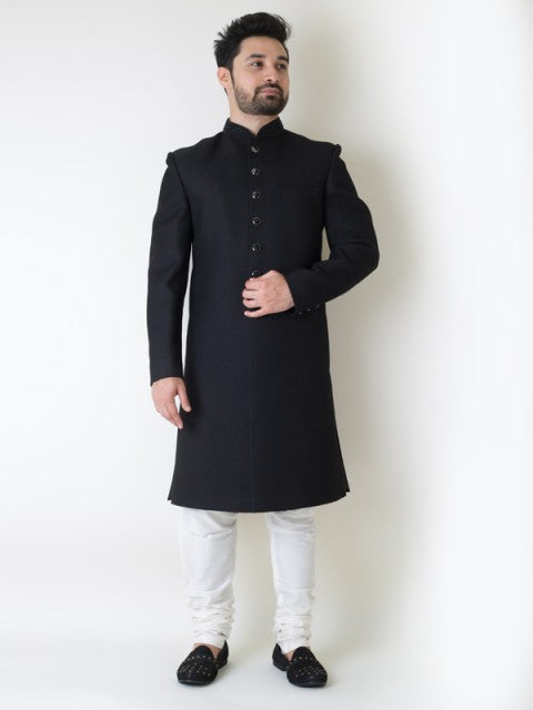 Super black sherwani