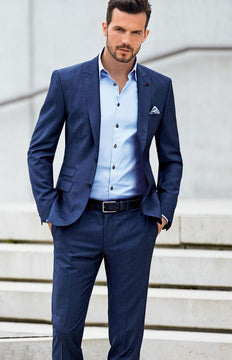 wedding suits for men  dark blue