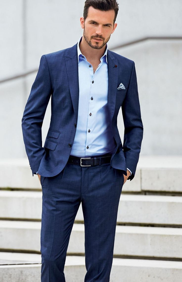 Wedding Attire For Men.Dark Blue Wedding Suits For Men