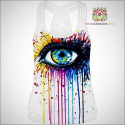 All Seeing Colourful Eye Tank Top - Your Expression Zone