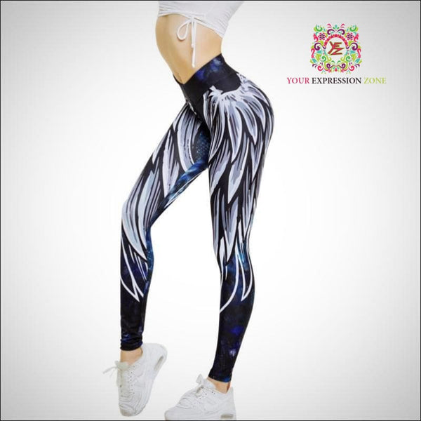 Angel Wings Leggings - Your Expression Zone
