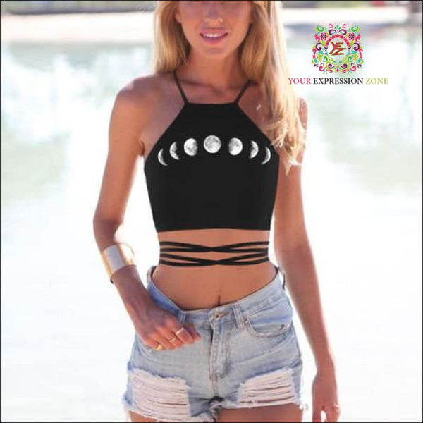 Moon Phases Crop Top - Your Expression Zone