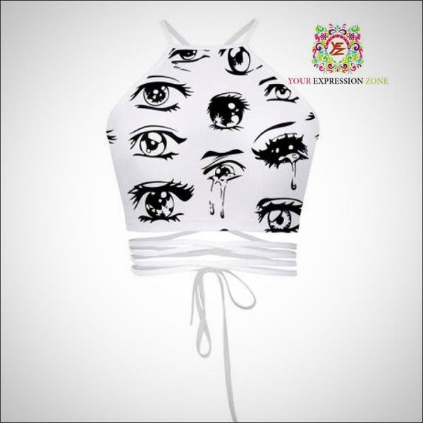 Doodle Eyes Crop Top - Your Expression Zone