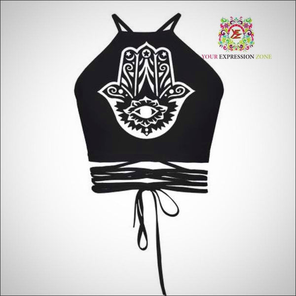 Hamsa Crop Top - Your Expression Zone
