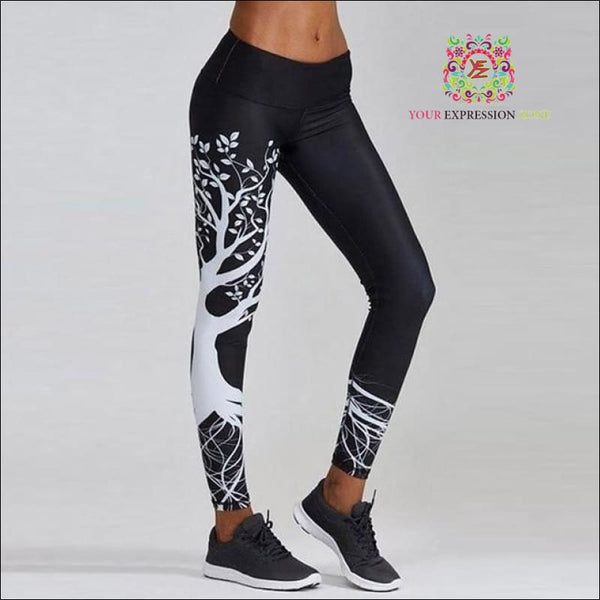 Black Tree Of Life Leggings - Your Expression Zone
