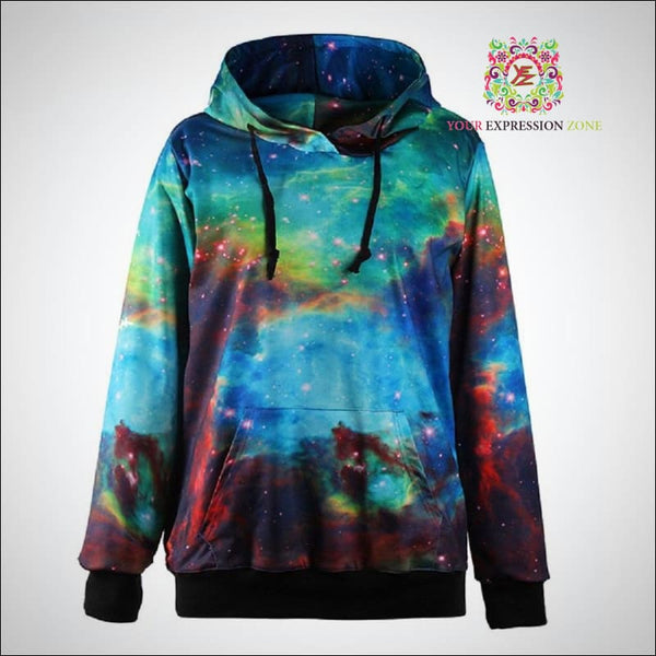 Blue and Red Galaxy 3D Hoody - Your Expression Zone