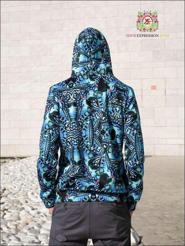 Blue Owl Psychedelic 3D Hoody - Your Expression Zone