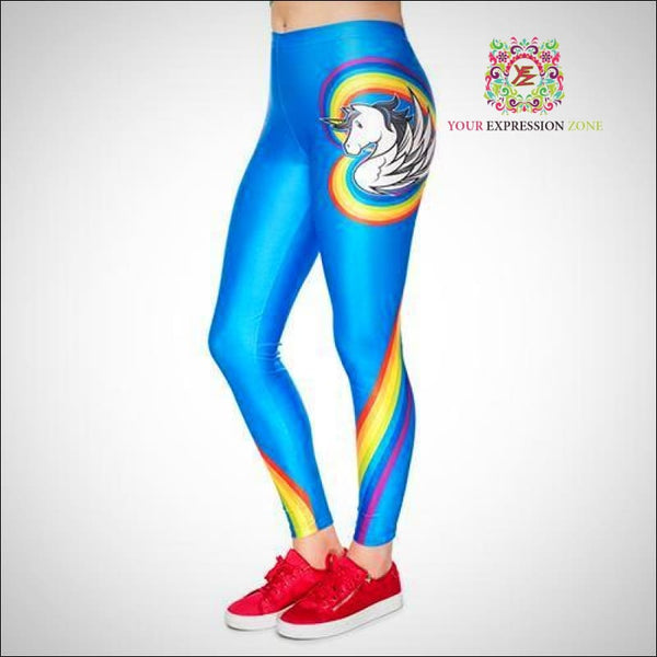 Blue Unicorn Leggings - Your Expression Zone