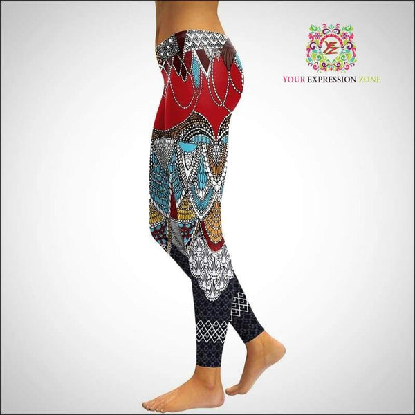 Bohemian Mermaid 3D Leggings - Your Expression Zone