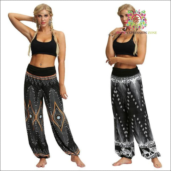 Boho Pattern Hippy Pants - Your Expression Zone