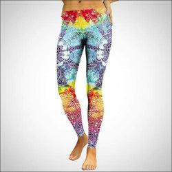 Bright Rainbow Mandala Leggings - Your Expression Zone