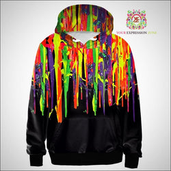 Colorful 3D Dripping Paint Hoody - Your Expression Zone