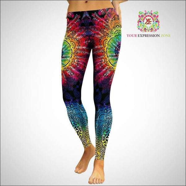 Dark Rainbow Mandala Leggings - Your Expression Zone