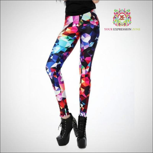 Diamonds Are A Girls Best Friend Leggings - Your Expression Zone
