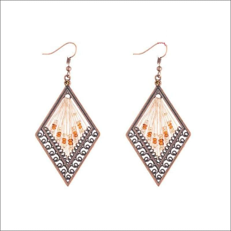 Beaded Diamond Earrings - Your Expression Zone