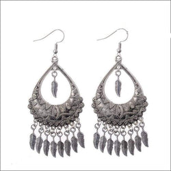Tear Drop Feather Earrings - Your Expression Zone