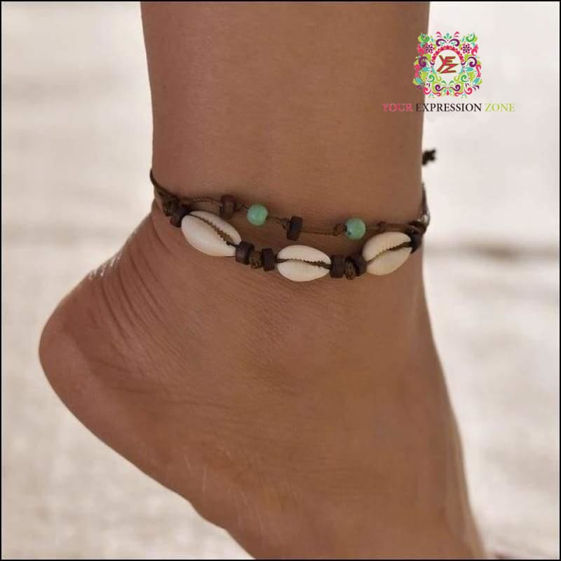 Ocean Bound Seashell Anklet - Your Expression Zone