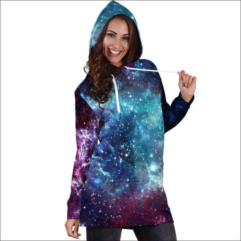 Galaxy Long Hoodie - Your Expression Zone
