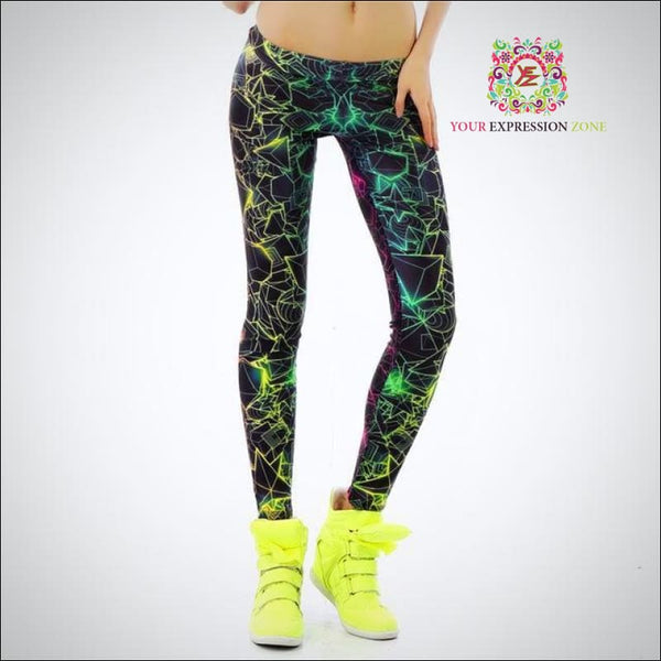 Geometric Multicolor Shapes Leggings - Your Expression Zone
