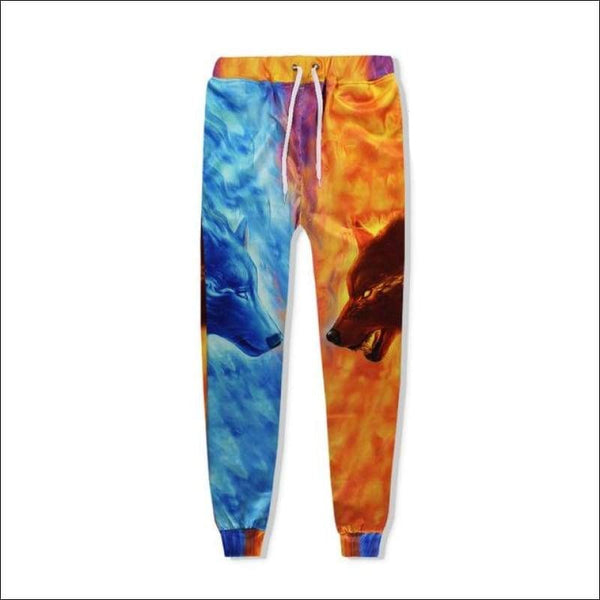 Fire and Ice Wolf Joggers - Your Expression Zone