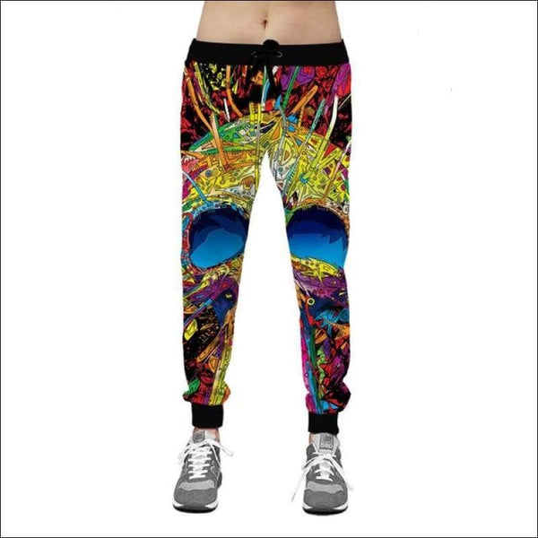 Psychedelic Skull Joggers - Your Expression Zone