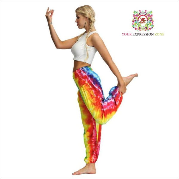 Bright Tye Dye Hippie Pants - Your Expression Zone