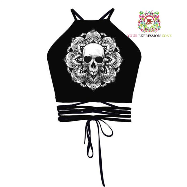 Alternative Halloween Style Crop Tops - Your Expression Zone