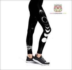Lunar Phase Leggings - Your Expression Zone
