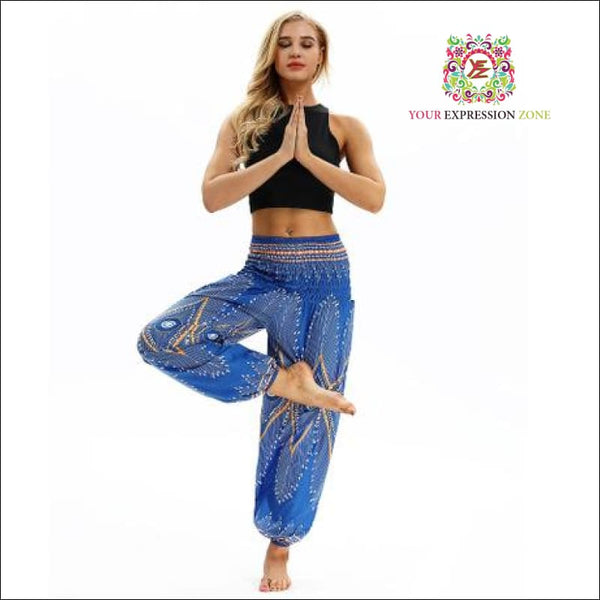 Blue Yellow / Yellow Black Hippie Pants - Your Expression Zone