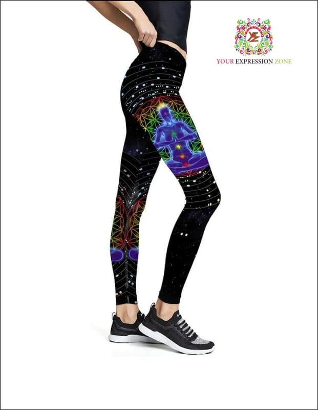 Meditating FOL Chakra Leggings - Your Expression Zone