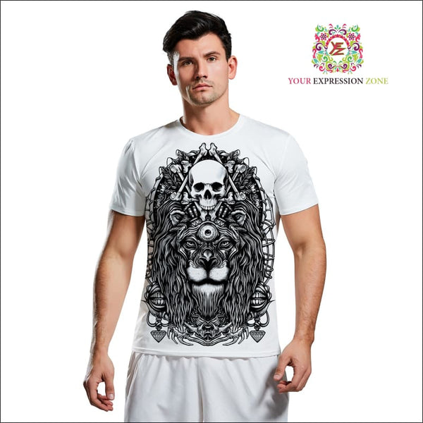 Alternative Lion Skull T-Shirt - Your Expression Zone
