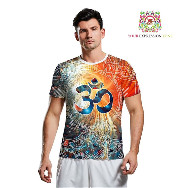 Blissful Orange Om Tee - Your Expression Zone