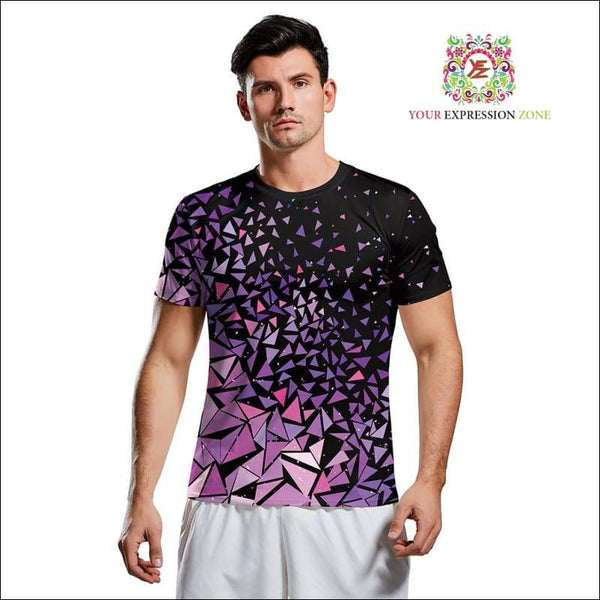 Purple Geometric Tri T-Shirt - Your Expression Zone