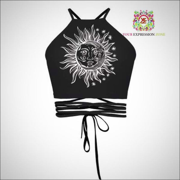New Sun and Moon Crop Top - Your Expression Zone