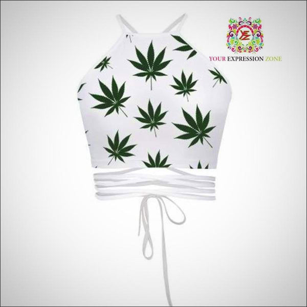 Weed Leaf Crop Top - Your Expression Zone