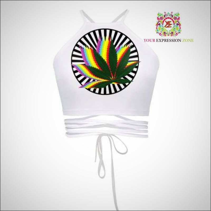 Weed Leaf Rasta Crop Top - Your Expression Zone