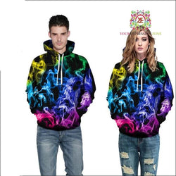 October Hoodie 10 - Colorful Smoke Hoodie - Your Expression Zone