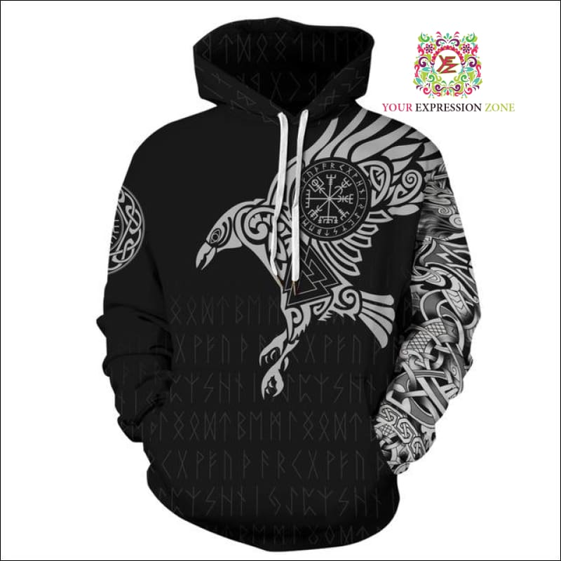 October hoodie 15 - Geometric Eagle Hoodie - Your Expression Zone