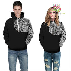 October hoodie 16 - Geometric Shoulder Hoodie - Your Expression Zone