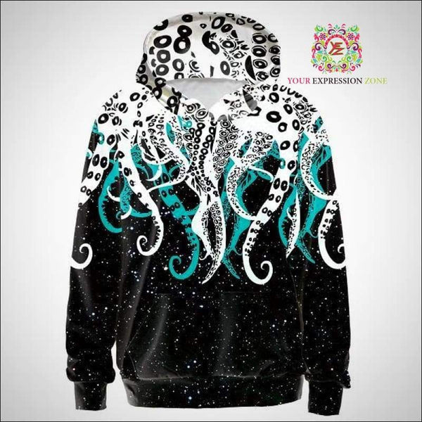 Octopus Tentacles Starry Night Hoody - Your Expression Zone