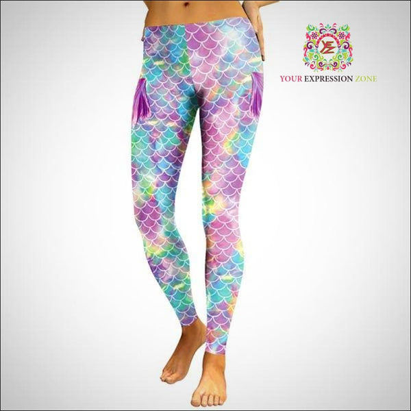 Pastel Mermaid Leggings - Your Expression Zone