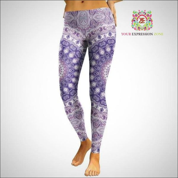 Pastel Purple Mandala Leggings - Your Expression Zone