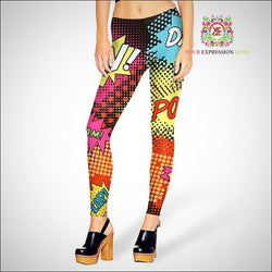 Comic Style Leggings - Your Expression Zone