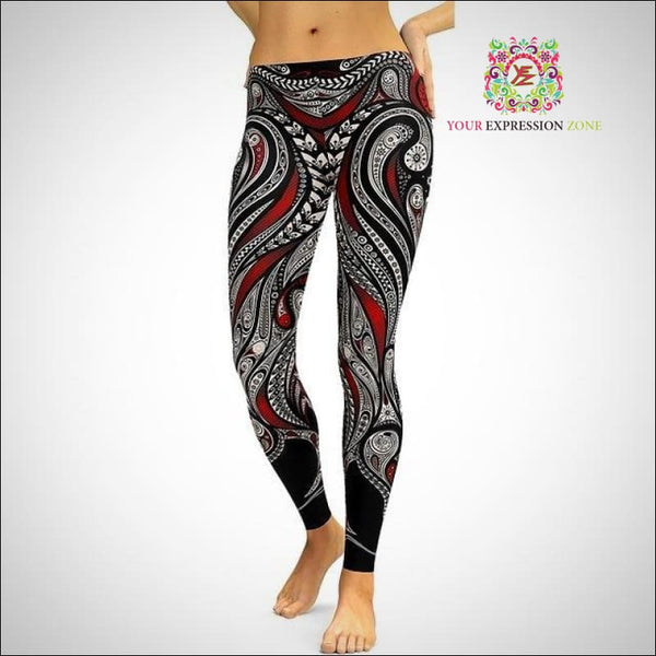 Psychedelic Pattern Leggings - Your Expression Zone