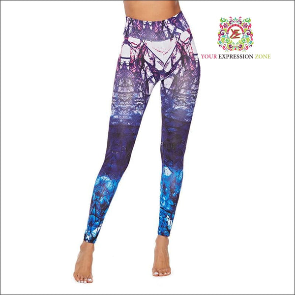Purple Explosion Leggings - Your Expression Zone