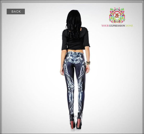 Robotic Leg Bone Leggings - Your Expression Zone