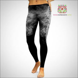 Smokey Angel Wings Leggings - Your Expression Zone