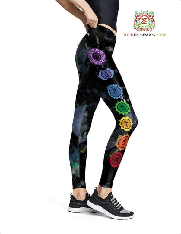 Sporty Tri Chakra Leggings - Your Expression Zone